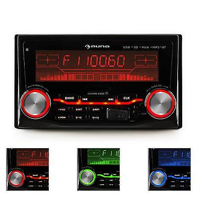 Auna Bluetooth Car Stereo Radio Usb Mp3 Sd Double Din Iso Standard 3 Colours
