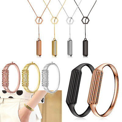 Fashion Metal Steel Replacement Band Bangle Necklace Pendant For Fitbit Flex 2