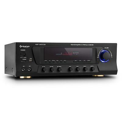 Auna Amp-3800 Usb 5.1 Channel Surround Receiver 600W Max. Usb Sd Fm Black