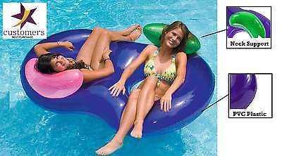 Inflatable 2 Person Pool Lounger Float Tube Swimming Water River Raft Toy Summer