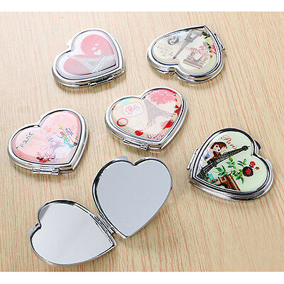 Lady Girl Cute Mini Makeup Cosmetic Portable Pocket Mirror Double Side Folding