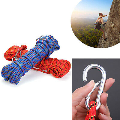 10MM 10M Safety Climbing Tree Rock Static Sling Rappelling Rescue Rope Tackle