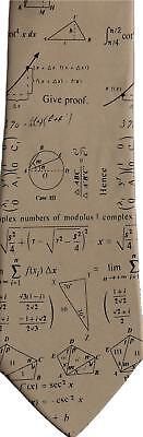 Complex Maths Mathematical Symbols Equations Sleeved Polyester Novelty Tie Gift
