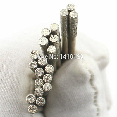 Lapidary Diamond Drill Bits 2.5mm Carving Burrs for Dremel Pack of 20Pcs