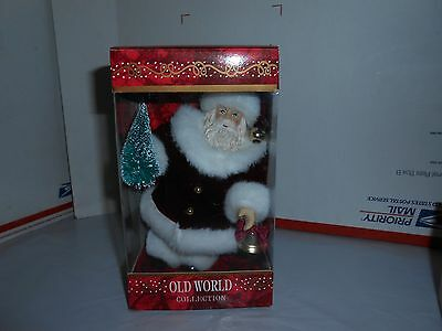 Nos Old World Collection Santa Claus 7 1/2 Inch Christmas Ornament Tree/bell