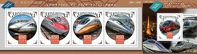Z08 Imperforated GB15907ab GUINEA-BISSAU 2015 High speed trains MNH Mint S