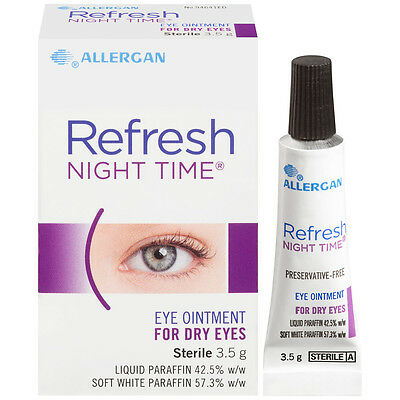 Refresh Nightime Eye Ointment 2X3.5G Preservative-free & Ideal use at bedtime
