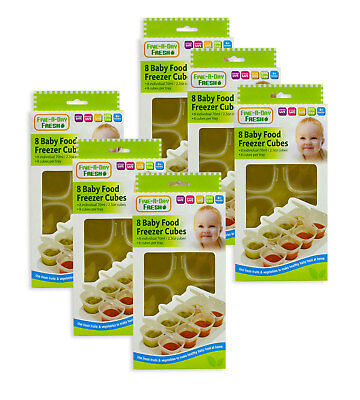 Freezer Cubes Baby Weaning Pots Tray Blended Food Stacking Containers Pack of 6
