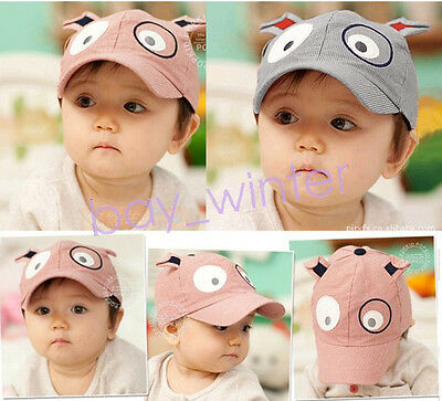 Kids Baby Infant Boy Girl Stripe Beret Cap Peaked Baseball  Dog Stripe Hat