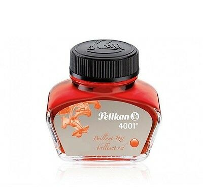Pelikan 4001 Fountain Pen ink Standard Bottle 30ml Brilliant Red