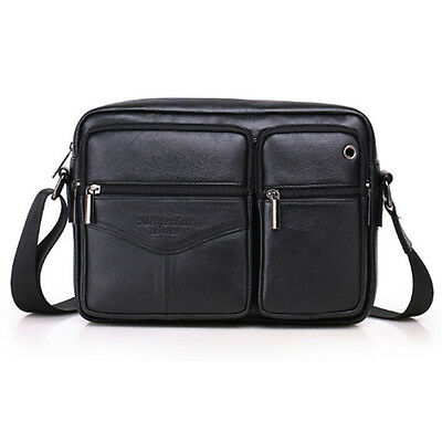 Men's Genuine Leather Fashion Crossbody  Bag Cross Body Business Bag Briefcase