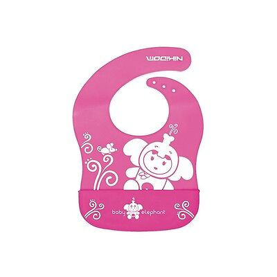 Babero silicona Funny Friends - Colores - Rosa
