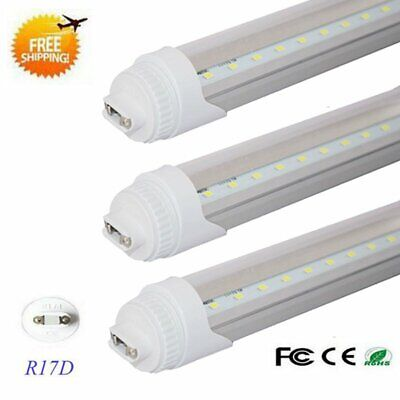 10-Pack R17D 8 Foot 40W F96 T12 T8 Replacement LED Tube Light Transparent Cover