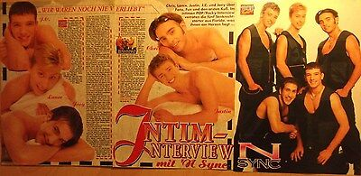 3 german clipping N`SYNC SHIRTLESS JUSTIN TIMBERLAKE BOY BAND BOYS GROUP SINGER