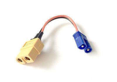 XT60 Female to Male EC2 Charge Lead Adapter LiPo Battery Losi 8ight SCT 10-T