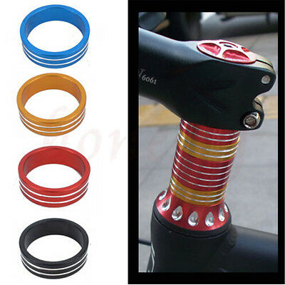 5pcs Road Bike Bicycle Cycling Aluminum Stripe Washers Headset Stem Spacer 10mm