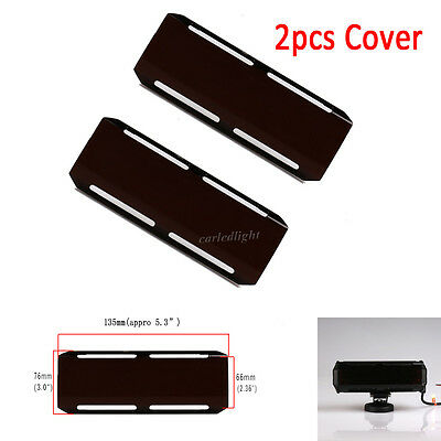"2x 5.3"" Smoke Black Lens Cover For 7"" inch CREE 36W Led Work Light Bar Truck ATV"