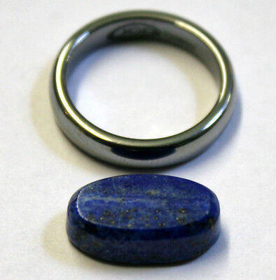Natural Lapis Lazuli Loose Gemstone 11X9Mm Gem Oval Cabochon 9Ct La26