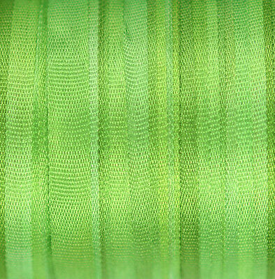 Silk Ribbon for Embroidery 4mm - 3 meters Green Mantis