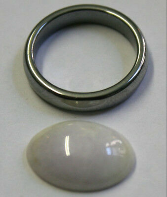 Natural White  Jade Loose Gemstone 13X17Mm Oval Cabochon 9.5Ct Gem Ja55