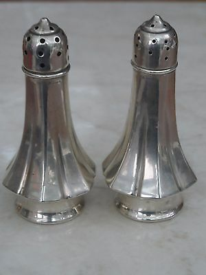 Lovely Pair Of Hallmarked Silver NCW Salt & Pepper Shakers Sheffield 1998 55.49g