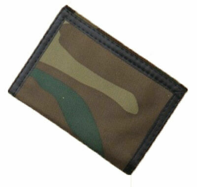 Boys Mens Army Camouflage Wallet Size Approx.10.5cm X 7cm Zip Compartment
