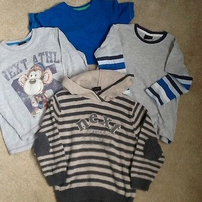 Look!   3 X boys long sleeved tops age 4-5,  1 t-shirt, age 5