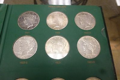 Complete Circ Peace Silver  Dollar Set 1921-1935 ..in The Coin Collector Book