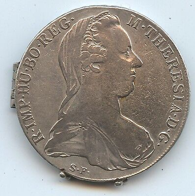 Austria Maria Theresa Thaler Locket (#983) Two Coins Hollowed Out. Nicely Hinged