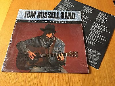 Tom Russell Band - Road To Bayamon - 1987 Usa Lp With Inner Sleeve Ex/ex