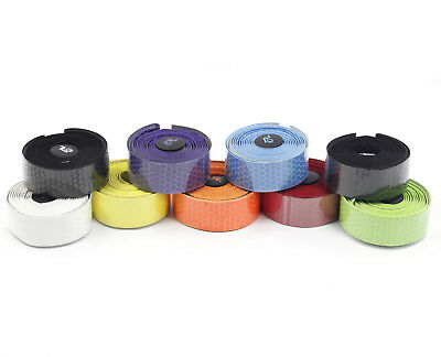 Road Bike PU Tape Drop Bar Wraps Honeycomb Design Anti-sweat Shock 200 x 3cm