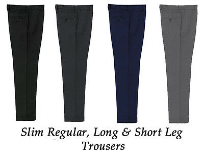 Boys Mens Slim Fit Regular Leg, Short Leg, Long Leg Slim Waist Trousers BT3065