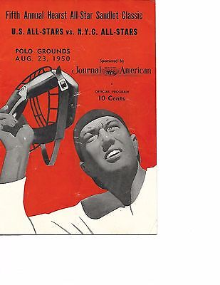 1950 US All Stars-New York All Stars Sandlot Program Charlie Lau RARE!!