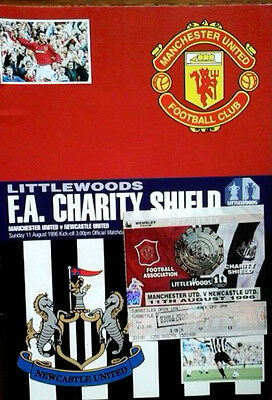 Man Utd V Newcastle 11/8/1996 + Ticket