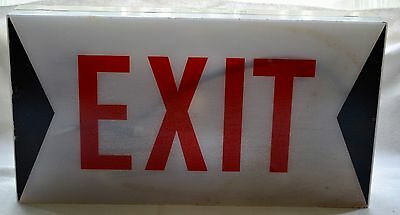 Retro/vintage exit light sign industrial - wall fixed.