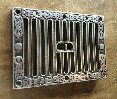 "OPEN & CLOSE SLOTTED AIR VENT VICTORIAN ANTIQUE KENRICK HIT & MISS 9x6"" ~ AV4po"