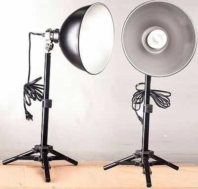 Continuous lighting pair of lights with stands and light tent