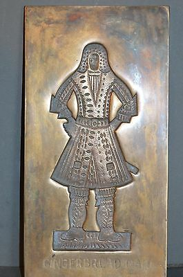 Antique 19th Century Georgian Brass Gingerbread Mould,c 1820