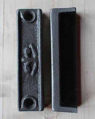 CAST IRON RIM LOCK DOOR KEEP 92mm ~ BRITISH MADE VICTORIAN RIMLOCK KEEPS ~ KP05
