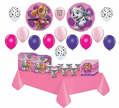 Girl Pups Skye Pink Paw Patrol Party Pack for 16