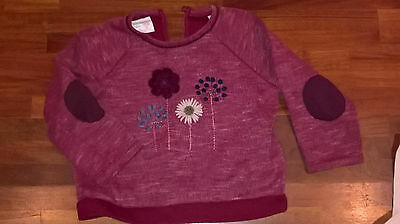 Adorable & Top Fashion : Petit Sweat Bordeaux Brode Zara Kids. 18/24 Mois