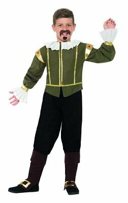 Boys Childrens Shakespeare Elizabethan Historical Fancy Dress Costume Book Day