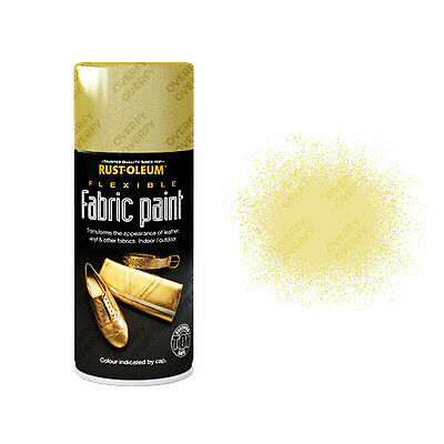 x1 Rust-Oleum Fabric Spray Paint Gold 150ml Toy Safe Flexible Leather Vinyl