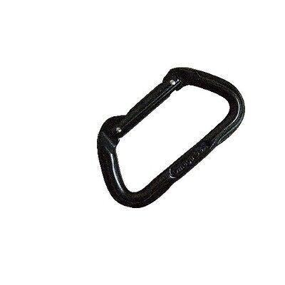 5ive Star Gear 6002000 Anodized Aluminum 7000 Series Carabiner Black Straight