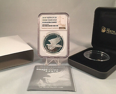 2014 Australian Wedge Tailed Eagle 1 oz Silver Proof Coin NGC PF69 ULTRA CAMEO