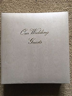 Gold and White Wedding Photo Guest Book Album