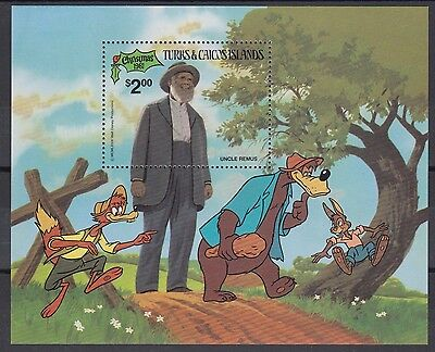 XG-AC075 TURKS & CAICOS IND - Disney, 1981 Christmas, Uncle Remus MNH Sheet