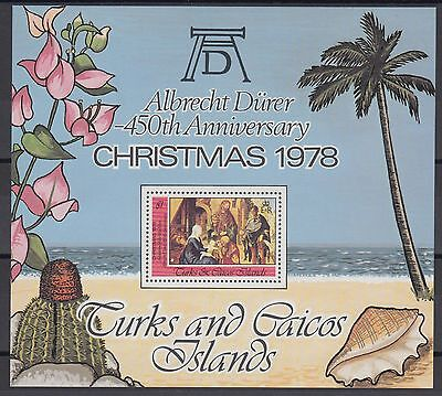 XG-AC058 TURKS & CAICOS IND - Paintings, 1978 Christmas, Durer Anniv. MNH Sheet