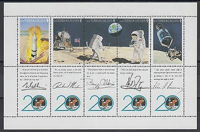 XG-AC119 TURKS & CAICOS IND - Space, 1990 Moonlanding Anniversary MNH Sheet