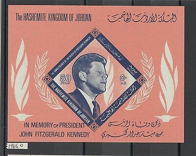 XG-AA314 JORDAN - Kennedy, 1965 In Memory, Imperf. MNH Sheet